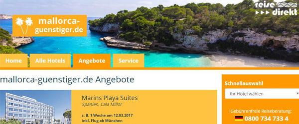 """Fast 1.000 Mallorca-Hotels erwartet den """"Mallorca-Urlauber mit Niveau""""."""