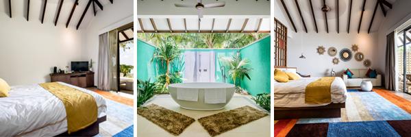 Die geplanten Zimmer im neuen Robinson Club Noonu
